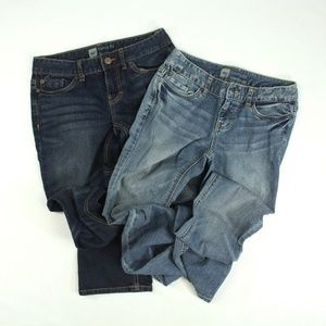 2 pairs of Curvy Fit Boot Cut jeans {Mossimo}